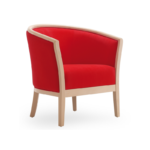 Tub chair with armrests fully upholstered 505