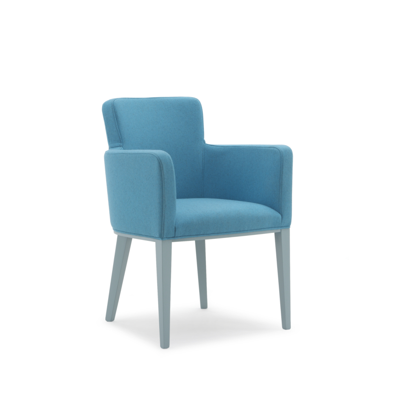 Tub chair with armrests fully upholstered 508