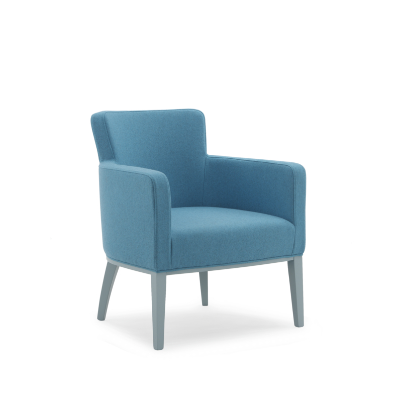 Tub chair with armrests fully upholstered 508_P