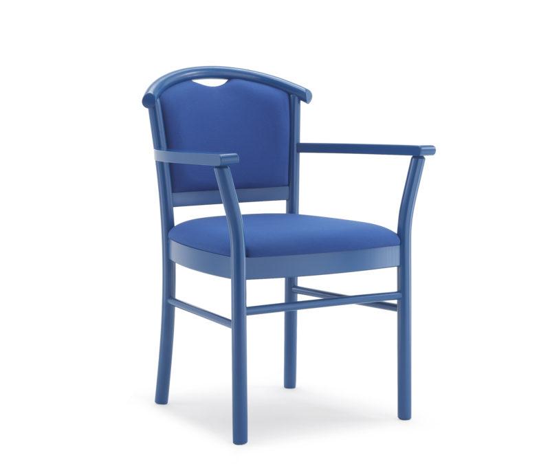 Poltroncina con braccioli e sedile debordante 834_M